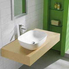 <b>Produktbeskrivelse:</b> <p> Lind design servant thin er en moderne keramisk servant som enkelt monteres direkte på en benkeplate o.l.. Den er meget lett å rengjøre og den tynne servanten er med på å skape et spennende uttrykk til det moderne bad. Med