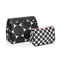 c76302b2de Cosmetic Bag Set in Big Dot W  Black Spotty Dot