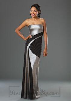 Ruffles Sleeveless Chic & Modern Evening Dress