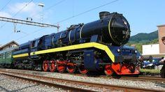 Modern Steam Dampflokomotive DLM 52 8055 - DRB Class 52 ---- Steam locomotive modernised by Dampflokomotiv- und Maschinenfabrik DLM of Winterthur, Switzerland, a former DR 52.80, on the Swiss Hauenstein line, during the demonstration week Modern Steam am Hauenstein.