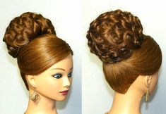 Elegant wedding updo, hairstyle for long hair