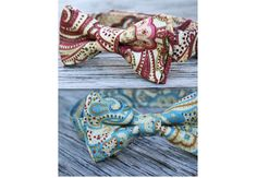 these were the bowties (the teal ones on page 2) Zealan & Justus wore for Chelsea's wedding....so cute! ( littlevys on Etsy )