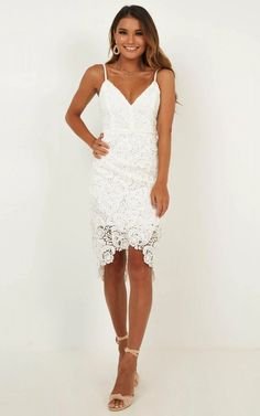 Lace white dress - Typical Lover Dress In White Lace Produced – Lace white dress Grad Dresses, Sexy Dresses, White Homecoming Dresses, Party Dresses, Fashion Dresses, Shower Dress For Bride, Bridal Shower Dresses, White Bridal Shower Dress, Bridal Shower Bride Outfit