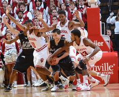 Devin Davis (15) , Evan Gordon (10) Jeremy Hollowell #IUCollegeBasketball