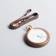 MMT Wooden Pocket Watch Brown