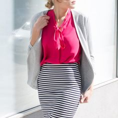 Re-invent your work wardrobe with bold stripes and colors that pop Le Tote, Office Chic, Bold Stripes, Dress For Success, Work Wardrobe, Fashion Editor, Work Outfits, Work Wear, What To Wear