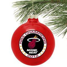 Miami Heat 2012 NBA Finals Champions Ornament Nba Miami Heat, Nba Merchandise, Nba Store, Nba Champions, Finals, Champs, Families, Ornament, Decorating