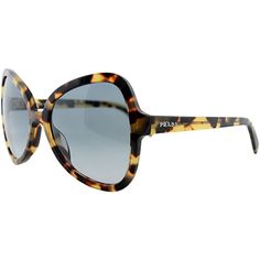 Prada Prada Women's 05ss Sunglasses (396865401) (3.385 ARS) ❤ liked on Polyvore featuring accessories, eyewear, sunglasses, havana, logo sunglasses, prada glasses, prada, square lens sunglasses and uv protection sunglasses