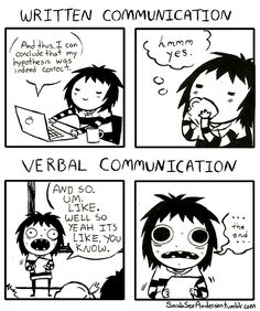 Written Communication (by Sarah Andersen).