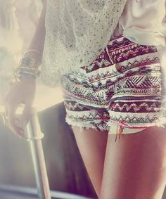 tapestry + lace. i have shorts just like this!