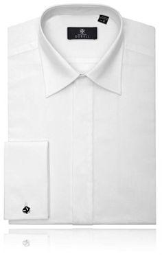 f617e10d Laydown Collar, Plain Front Tuxedo Shirt by Alexander Dobell-17.5