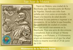 MISIONEROS DE LA PALABRA DIVINA: SANTORAL - SAN JUAN DE MATERA