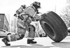Do you do your workout in full turnout gear? - repinned by Crossed Iron Fitness