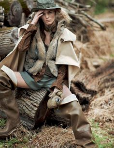 visual optimism; fashion editorials, shows, campaigns & more!: tendenze camouflage: emma stern nielsen and maritza veer by cedric buchet for elle italia september 2014