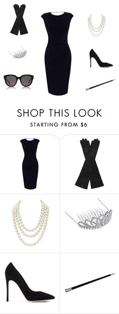 """""""Breakfast at Tiffanys Costume"""" by guide2style on Polyvore featuring Oasis, AGNELLE, Chanel, BP., Gianvito Rossi and CÉLINE"""
