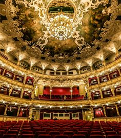 Interior of Prague State Opera (former New German Theatre as well as Smetana Theatre) Where Mozart premiered Don Giovanni. photo: Tarek Touma.
