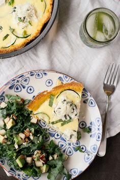 Basil Ricotta & Zucchini Quiche by lanapribic #Quiche #Basil #Zucchini