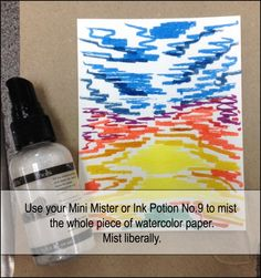 sunset2. use distress markers and then mist liberally