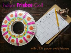 Relentlessly Fun, Deceptively Educational: Indoor Frisbee Golf (with a paper plate frisbee)