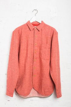 19659faa9a Tweed Over Shirt With Nylon Twill Elbow Patches