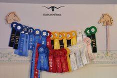 Western or English  Horse Show Ribbon Display Wood Wall Hanging Award Plaque