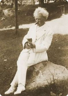 """""""When a man loves cats, I am his friend and comrade, without further introduction.""""  ~Mark Twain"""