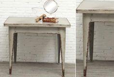 Square Metal Table - From Antiquefarmhouse.com - http://www.antiquefarmhouse.com/current-sale-events/the-attic18/sequare-table.html