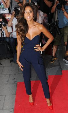 Nicole Scherzinger  -  Cutest jumpsuit. Where I would wear it to no idea. But I would so buy this