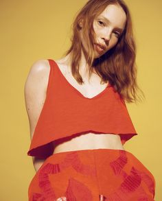 Anne Törnroos / Stylist Photo: Andrei Kipahti Little miss Sunshine, nakid magazine, fashion, photoshoot, yellow, red, blue