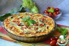 Киш с баклажанами - кулинарный рецепт