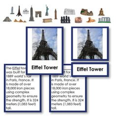 World Landmarks with Matching Objects Deluxe 5 Part Classified Set