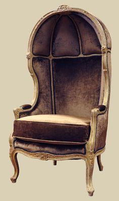 "62-591  Louis XV Canopy Armchair  (c: 1880)  29""w x 27""d x 57""h  $8,900"