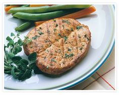 "Oven baked butterfly pork-chops: Marinate w/ olive oil, soy sauce & garlic, Salt & pepper before baking, bake for 10"" flip & bake for another 10""."