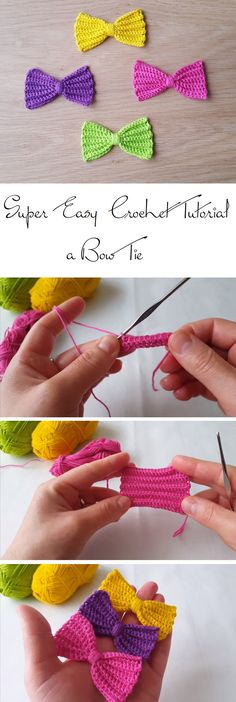 How to Crochet a Simple Bow Tie - Design Peak