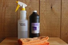 How to Clean Slate - Hydrogen Peroxide Cleaning Solution for stains. Need to look out for teak oil to make it pretty again