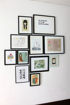 Dining Room Art Wall by Smile And Wave, via Flickr