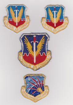 Lot of 4 Misc USAF Air Force Patches. $12.00, via Etsy.