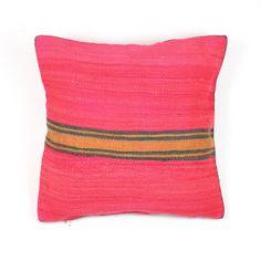 Coussin marocain en laine de couleur