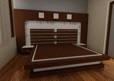 Bedroom design 0025 Lcd Wall Design, Wood Bed Design, Bedroom Bed Design, Bedroom Furniture Design, Wood Bedroom, Bedroom Decor, Bed Headboard Wooden, Headboards For Beds, Wood Furniture Legs