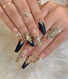 2020 Beautiful Nail Art Designs to Copy – Mooie Nagels Glam Nails, Dope Nails, Fancy Nails, Bling Nails, Stiletto Nails, Matte Nails, Beautiful Nail Designs, Beautiful Nail Art, Gorgeous Nails