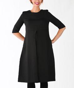 Look at this #zulilyfind! Black Mara Maternity A-Line Dress by Madeleine Maternity #zulilyfinds