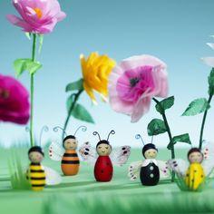 Blommor & söta figurer