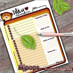 Lilipops - Daily Planner - Instant Download - Stationery - Organizing Printables - Notes - To do list - Sheets - Planner - Cat - Cute - Fun