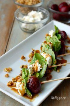 Oscar Party Food! - beet salad on a stick via http://NoBiggie.net
