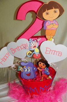 Dora The Explorer Birthday Party Centerpieces by PartiesByTristan, $22.00