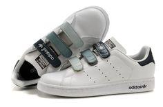 more photos 73c2f 4692d Adidas Stan Smith GS - Chaussure Adidar Pas Cher Pour Femme Enfant Blanc  Noir