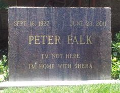 """Peter Falk (Actor) best known in the role of """"Columbo"""" 1927-2011"""