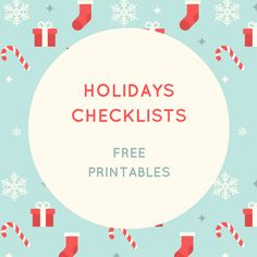 Keeping it Real: Holidays checklists - free printables