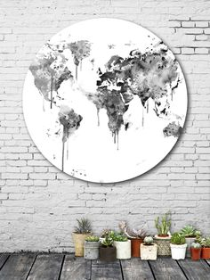 A part of me up on the wall. <3 Ink splash world map by Monn (Aluminum Disc) by Curioos at Gilt. (affiliate)