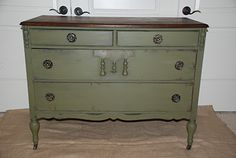 Chest of drawers in Olive... Or maybe olive for the hutch. Decisions, decisions...